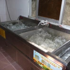 亿水牌洗菜机,双缸洗菜机