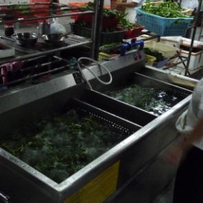 双缸洗菜机,消毒洗菜机