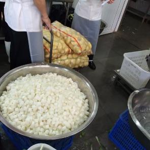 萝卜切丁,切块,食堂切菜机