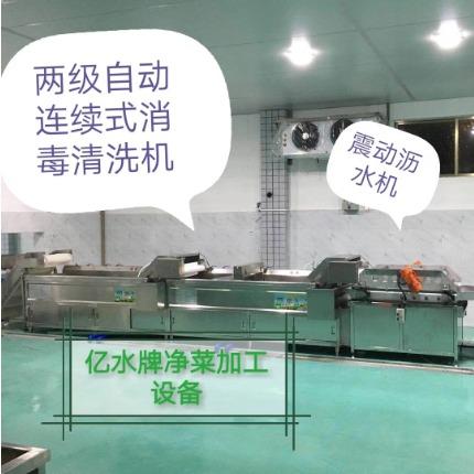 食堂连续式洗菜机,自动清洗流水线
