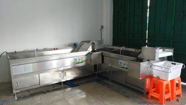 海南洗菜机,蔬菜加工中心,亿水牌洗菜机